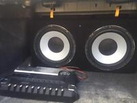 Kenwood PS541 960W amplifier And Velocity subwoofer
