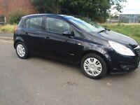Vauxhall Corsa Club AC 1.2 5 door hatchback, 1 year MOT, clio punto astra focus fiesta
