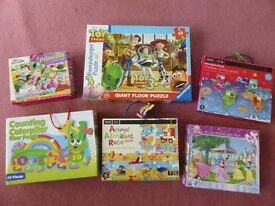 Excellent large bundle of jig-saws/puzzles - suits approx 3-7 years