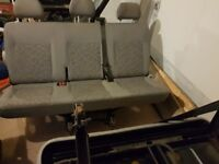 Vw t5 transporter rear seats with belts