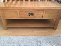 Sold Oak coffee table Excellent condition no marks ,