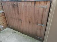 Bike shed storage mower sheds
