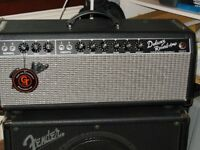 FENDER DELUXE REVERB AMP HEAD AND FENDER GE-112 CAB