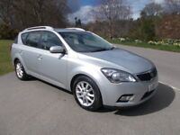 2010 10 KIA CEED 1.6 CRDI 2 5 DOOR ESTATE IN METALLIC SILVER CALL 07791629657