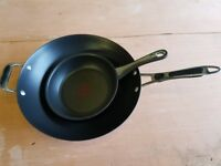 Wok and non-stick frying pan