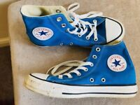 CONVERSE ALL STAR Boys/Mens Blue and white Boots size - UK 6