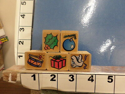 5 stamps set seasonal items Christmas holiday #7 rubber stamp set 6f