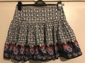 Papaya flowery skirt