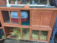 Large double floor rabbits /guinea pigs hutch!!