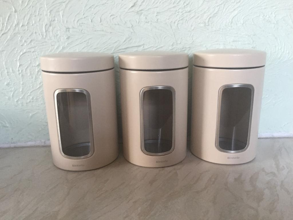 Set Of X3 Brabantia Kitchen Storage Canisters In Southampton