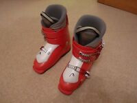 Ski Boots - HEAD, red and white, size Mondopoint 23cm, UK Size 4, Europe Size 36.5