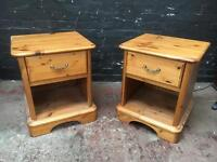 Fabulous pair of Schreiber solid pine bedside cabinets