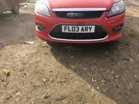 Ford Focus 2008 Front Bumper red