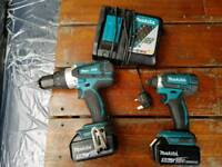Makita drill set 18v 5 amp batteries