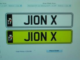 J1ON X Number plate