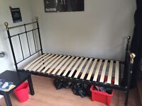 Single bed - marks and spencer in very good condition - easy to dismantle and put up