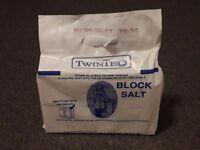 Water softner salt blocks