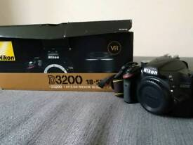 Nikon D3200 camera with charger