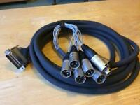 RS-232C parallel port Lead to 6 x XLR Neutrik loom studio cable