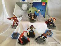 Set of 11 Disney infinity 2.0 with Xbox 360 game