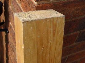 "Pine Wood Post or Lintel 1500mm X 115mm X 70mm (59"" X 41/2"" X 23/4"")"