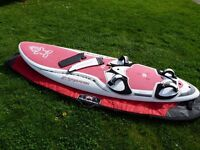 Junior windsurf board and two rigs - Starboard, starsurfer