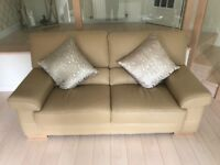 Leather sofas for sale 3 seater plus 2 seater plus footstool