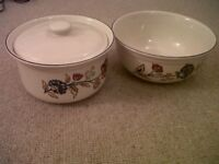 Camargue (Boots) Casserole Dish with Lid and Serving Bowl VGC