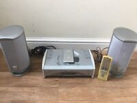 JVC Home Stereo/CD Player System (inc. speakers, power cable & remote)