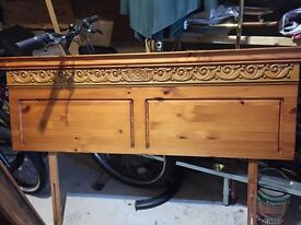 Gorgeous carved bed headboard . Not a mark on it. Quick sale hence price.