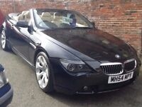 2005 BMW 645CI Convertible in Black & cream leather *2own *92k *NEW MOT *History M6 V8 AMG M5 M3