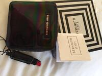 Lulu Guinness purse black leather new in box . Cost £89 .