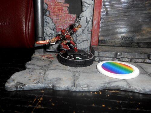 CUSTOM Heroclix DEADPOOL Steampunk Figure Miniature #069 Epic Pro-Painted