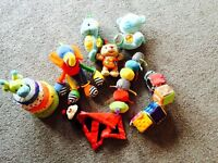 Soft toys and pram toy collection