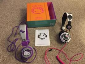 Hello Kitty headphones two sets in great condition hardly used