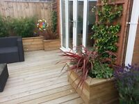 Wooden planters. Any size made to measure.