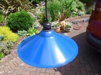 4 IKEA Royal Blue 'Coolie' Metal Lampshades
