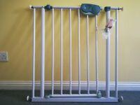 Stair gate pressure fit or screw fixings
