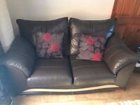 2 Leather Two Seater Sofas, Leather Sofa, Brown Sofa, 2 Piece Suit, Leather Couch, Brown Couch, Sofa