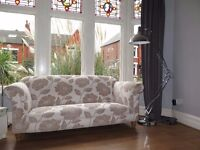 Cream Floral JOHN LEWIS 3 Seater Sofa