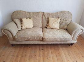 Sofa golden colour.