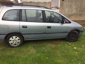 Vauxhall zafira 1.8l petrol