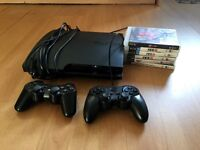 PS3 slim sony playstation 3 with 6 games
