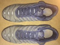 Men's grey and blue nike tns, uk size 7