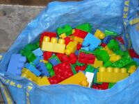 Duplo Bloc and lego bricks large Ikea bag of over 500 + assorted sizes/ types. Free local delivery.