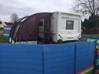 Elddis Crusader Typhoon 2003 with porch awning and all van contents