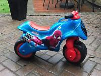 Small push along bike Spiderman