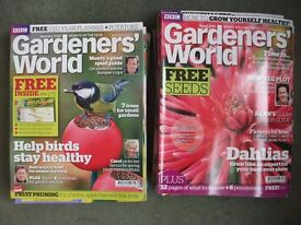 Lot of 17 Issues of BBC Gardeners' World Magazine 2011 to 2012 gardening plants - NEEDS TO GO ASAP!