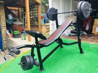 Weight Bench by Adidas (2x5 kg; 2x7.5kg; 2x10kg)