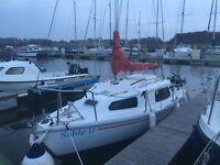 Sailing Boat Saddler Seawych 19 Including Trailer & Outboard